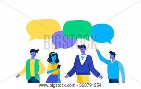 Meeting Familiar Students Chat Dialogue Speech Bubble