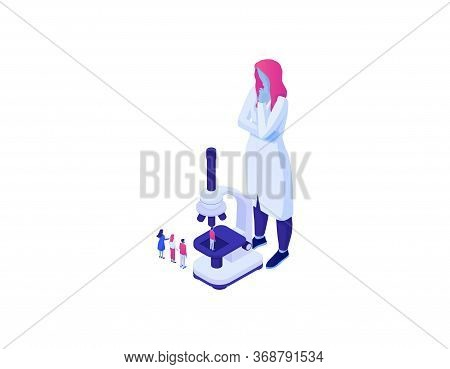 Genetic Biotechnology Analysis Populations Isometric Data. Collection
