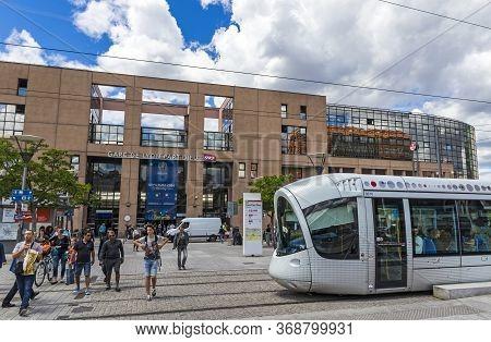 Lyon, France - June 15, 2016: Facade Of The Primary Railway Station In Lyon (gare De Lyon-part-dieu)