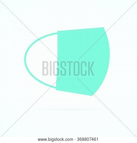 Respirator Mask Symbol On White Background. Mask Flat Vector Icon Side View.