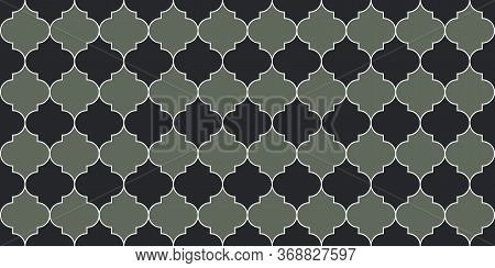 Moroccan Seamless Ornament Ramadan Traditional Golden Mosque Shape. Moroccan Seamless Mosaic Texture