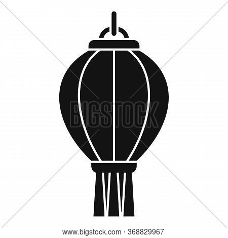 Hanging Chinese Lantern Icon. Simple Illustration Of Hanging Chinese Lantern Vector Icon For Web Des