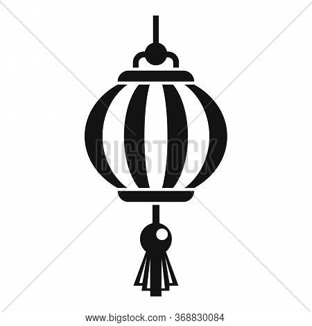 Painting Chinese Lantern Icon. Simple Illustration Of Painting Chinese Lantern Vector Icon For Web D