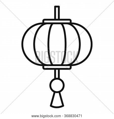 Traditional Chinese Lantern Icon. Outline Traditional Chinese Lantern Vector Icon For Web Design Iso