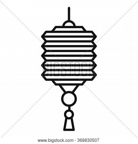Party Chinese Lantern Icon. Outline Party Chinese Lantern Vector Icon For Web Design Isolated On Whi
