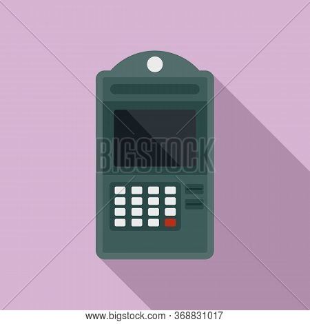 Atm Online Pay Icon. Flat Illustration Of Atm Online Pay Vector Icon For Web Design