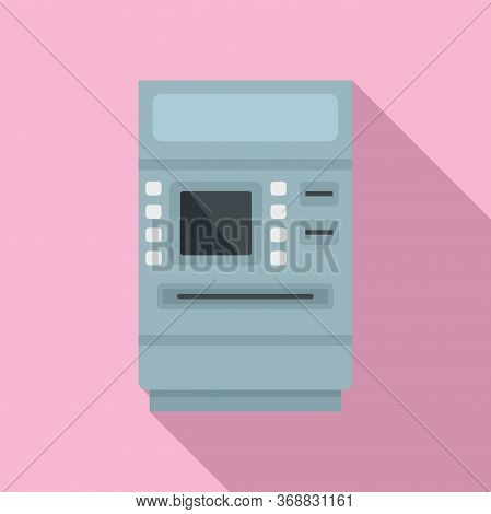 Cash Atm Receipt Icon. Flat Illustration Of Cash Atm Receipt Vector Icon For Web Design