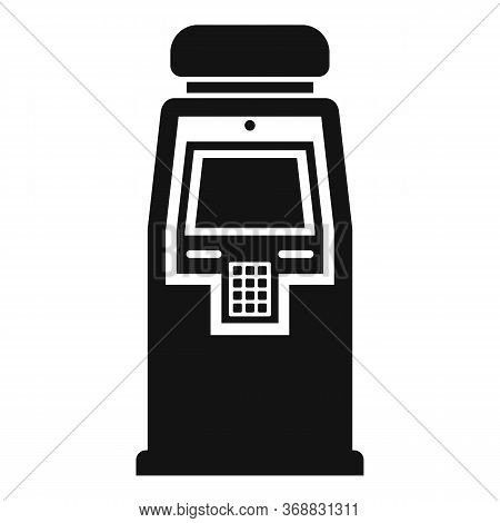 Atm Machine Icon. Simple Illustration Of Atm Machine Vector Icon For Web Design Isolated On White Ba