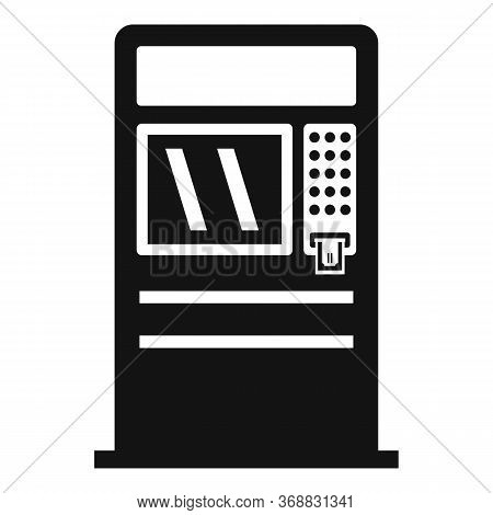 Cash Atm Icon. Simple Illustration Of Cash Atm Vector Icon For Web Design Isolated On White Backgrou