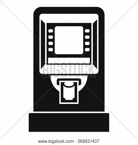 Atm Cash Credit Icon. Simple Illustration Of Atm Cash Credit Vector Icon For Web Design Isolated On