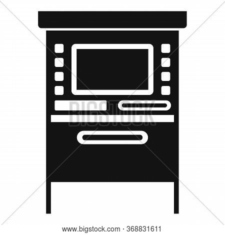 Atm Cashpoint Icon. Simple Illustration Of Atm Cashpoint Vector Icon For Web Design Isolated On Whit