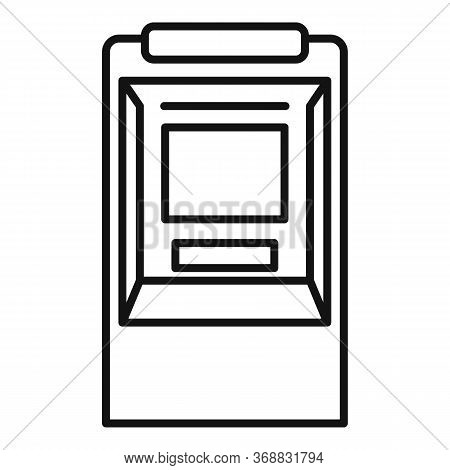 Balance Money Atm Icon. Outline Balance Money Atm Vector Icon For Web Design Isolated On White Backg