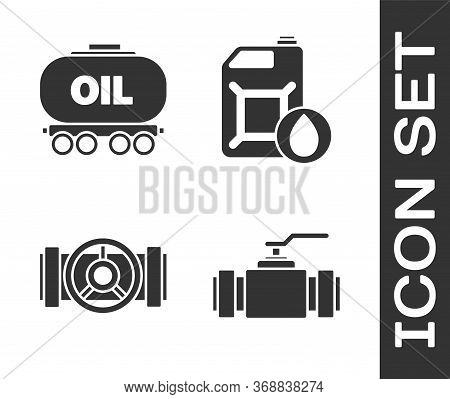 Set Industry Metallic Pipes And Valve, Oil Railway Cistern, Industry Metallic Pipes And Valve And Ca