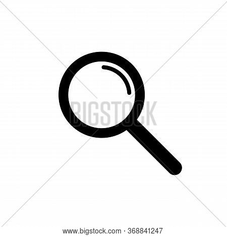 Magnifying Glass Icon. Magnifier Or Loupe Search Symbol. Vector Eps 10