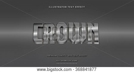 Editable Text Effect - Crown Illustrator Text Style