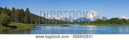 The Snake River In The Teton Mountains Of Wyoming