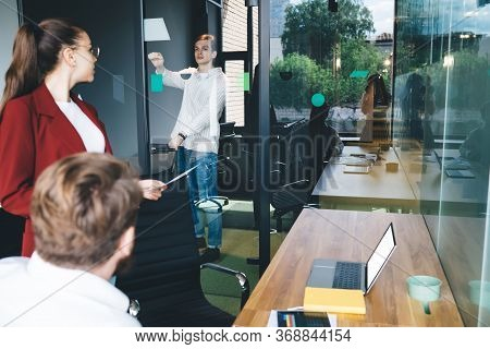 Employee Knocking Before Coming Into Office Room