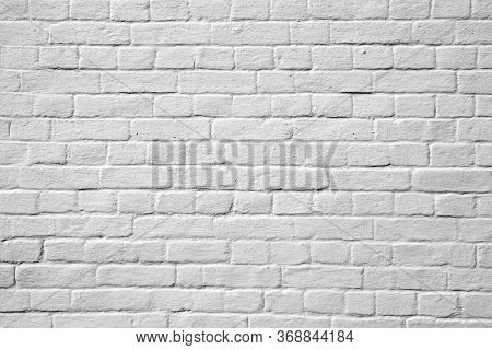 Old Whitewashed And Painted White Wall, Background And Texture
