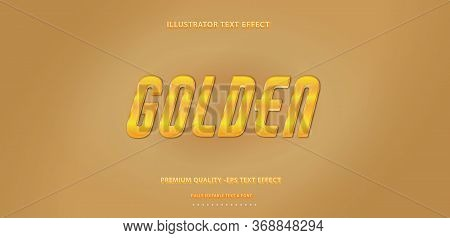 Editable Text Effect - Sparkle Gold Illustrator Text Style