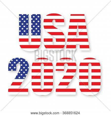 2020 United States Of America Presidential Election. Vote 2020 Usa. Dynamic Numbers Design Elements