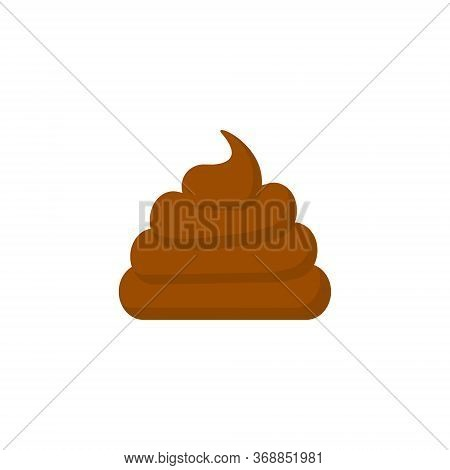 Poop Vector Illustration Isolated On White Background
