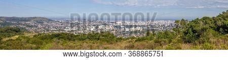Panorama Of Porto Alegre City From Morro Santana Mountain