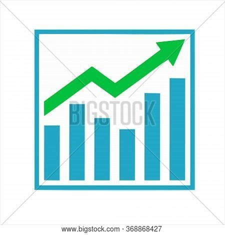 Profit Growing Icon. Isolated Vector Icon. Progress Bar. Growing Graph Icon Graph Sign.