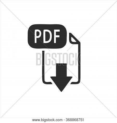 Pdf Icon Isolated On White Background. Pdf Icon In Trendy Design Style.