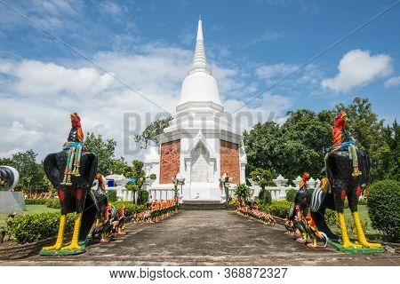 Scenery View Of King Naresuan Stupa Located At Mueang Ngai Village In Chiang Mai Province Of Thailan
