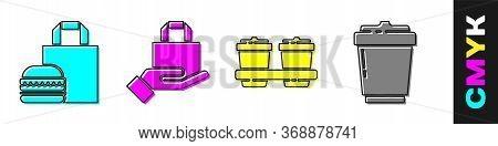 Set Online Ordering Burger Delivery, Online Ordering And Delivery, Coffee Cup To Go And Coffee Cup T