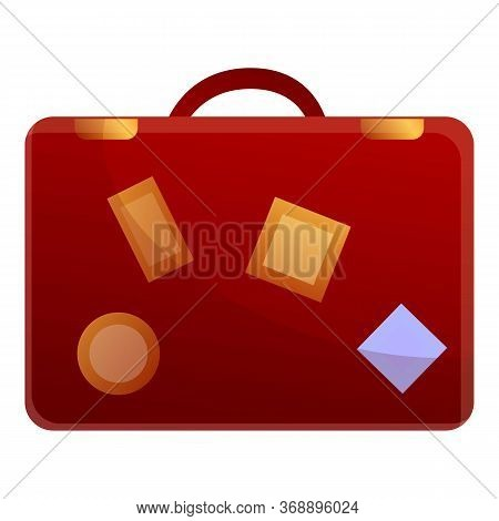 Travel Suitcase Icon. Cartoon Of Travel Suitcase Vector Icon For Web Design Isolated On White Backgr