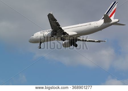 Paris, France - May 12, 2012: Airbus A320-214 Of Air France Landed At The Orly Airport, Paris, Franc