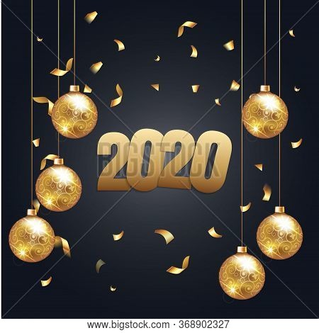 Invitation Merry Christmas Party And Happy New Year 2020 Poster Banner Card Design Template With Chr
