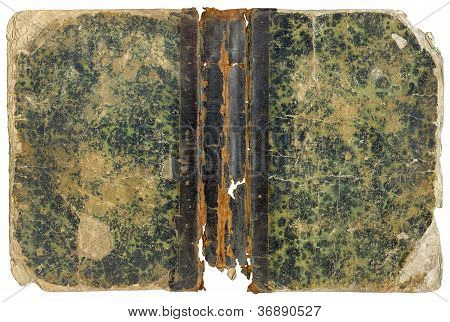 Open Shabby Old Book Cover