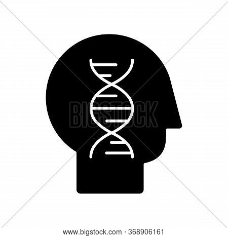 Human Biology Black Glyph Icon. Modern Science, Natural Field Of Study. Genetics, Biotechnology, Gen