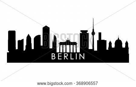 Berlin Skyline Silhouette. Black Berlin City Design Isolated On White Background.