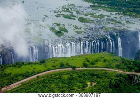 Victoria Falls - Border Of Zambia And Zimbabwe
