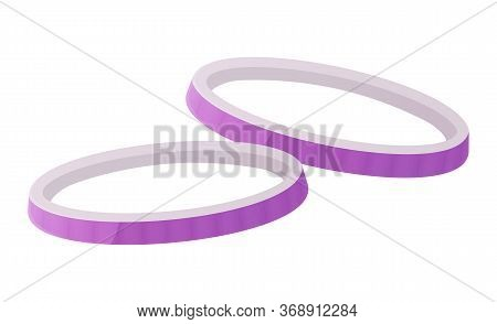 Purple Or Red Chopped Onion Rings. Vegetable, Raw, Cooking, Organic Food Concept. Burger Ingredient.