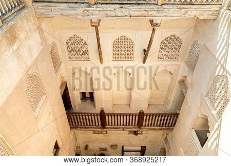 View From Above Inside The Jabreen Castle In Bahla, Sultanate Of Oman