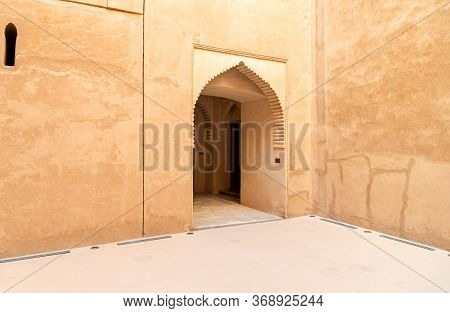 View Inside The Jabreen Castle In Bahla, Sultanate Of Oman