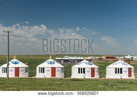 Hohhot, Inner Mongolia Province / China - July 30, 2016: Yurt Tents In Inner Mongolia Province Of Ch