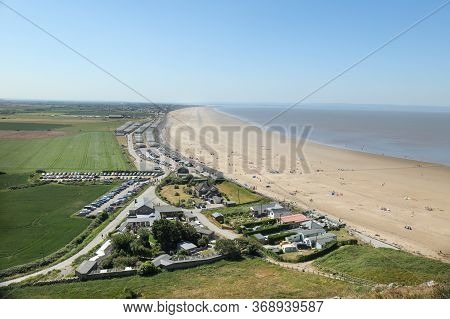 Brean Beach From The Hill Of Brean Down, Somerset, England