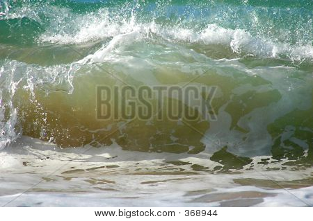 Wave Crashing On Shore
