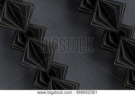 Geometrical Background With Cubic Paper Squares, 3D Rendering.