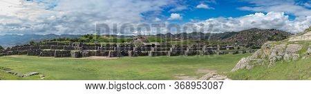 Panoramic View Of Saksaywaman, Inca Ruins In Cusco, Peru