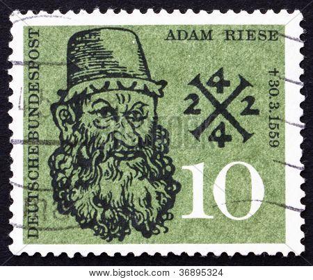 Postage stamp Germany 1959 Adam Riese, Arithmetic Teacher