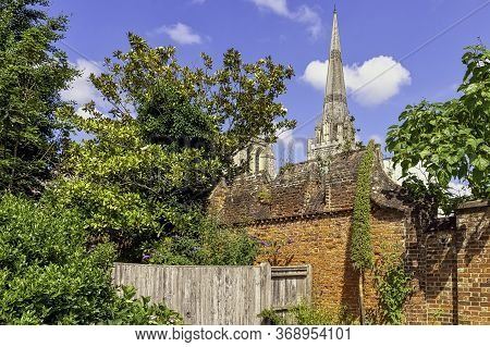 Chichester, West Sussex, Uk - July 14: Vintage Architecture With Cathedral Church Of The Holy Trinit
