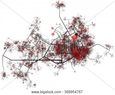 City Data Hotspots of Infection or Crime Tracking Reports