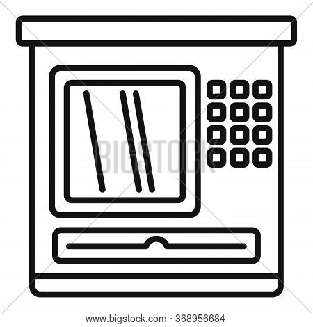 Atm Service Icon. Outline Atm Service Vector Icon For Web Design Isolated On White Background