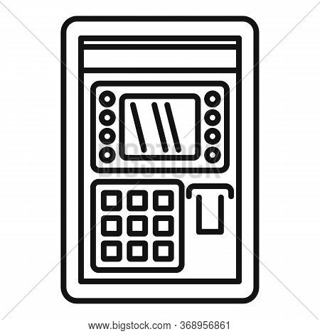 Atm Pin Code Icon. Outline Atm Pin Code Vector Icon For Web Design Isolated On White Background